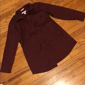 {chicos} no iron purple button front top